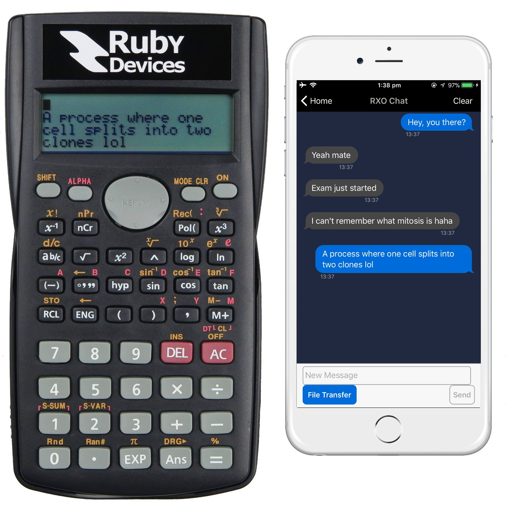 Ruby Calculator text messaging Smart Phone